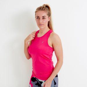 Techfit Longline Sports Vest Top – Magenta