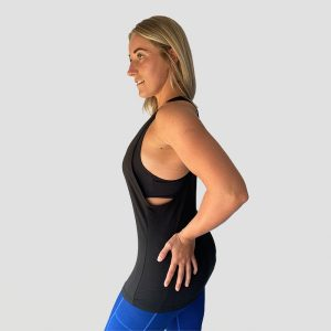 Cirrus Drop Arm Sports Vest – Black